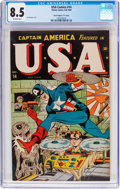 """Golden Age (1938-1955):Superhero, USA Comics #14 Davis Crippen (""""D"""" Copy) Pedigree (Timely, 1944) CGC VF+ 8.5 Off-white pages...."""