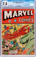 Golden Age (1938-1955):Superhero, Marvel Mystery Comics #33 (Timely, 1942) CGC VF- 7.5 Off-white to white pages....