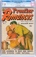 Golden Age (1938-1955):Romance, Frontier Romances #1 (Avon, 1949) CGC VF- 7.5 Off-white to whitepages....