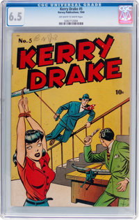 Kerry Drake #5 (Harvey, 1944) CGC FN+ 6.5 Off-white to white pages
