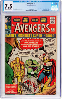 The Avengers #1 (Marvel, 1963) CGC VF- 7.5 Cream to off-white pages