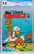 Golden Age (1938-1955):Cartoon Character, Walt Disney's Comics and Stories #21 (Dell, 1942) CGC VF/NM 9.0White pages....