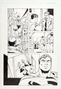 "Original Comic Art:Panel Pages, Dan Fraga and Larry Strucker ""Judgement Day"" Unpublished SupermanStory Pages 1-2 Original Art (DC, c. 1990-2000s).... (Total: 2Original Art)"