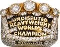 Boxing Collectibles:Memorabilia, 1992 Riddick Bowe Undisputed Heavyweight World's Champion Ring Presented to His Wife Judy - 5+ Carats in Diamonds!...