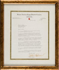 Autographs:Letters, 1934 Eddie Collins Typed Signed Letter. ...
