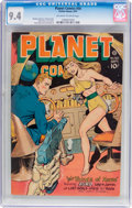 Golden Age (1938-1955):Science Fiction, Planet Comics #50 (Fiction House, 1947) CGC NM 9.4 Off-white towhite pages....