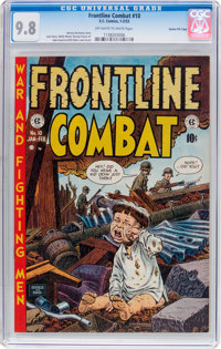 Frontline Combat #10 Gaines File Pedigree (EC, 1953) CGC NM/MT 9.8 Off-white to white pages