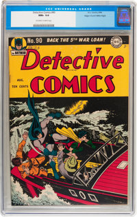 Detective Comics #90 Mile High pedigree (DC, 1944) CGC NM+ 9.6 Off-white to white pages