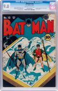 Golden Age (1938-1955):Superhero, Batman #10 (DC, 1942) CGC VF/NM 9.0 Off-white to white pages....