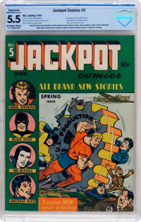 Jackpot Comics #5 (MLJ, 1942) CBCS Restored FN- 5.5 Slight to Moderate (A) Off-white to white pages