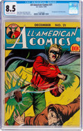 Golden Age (1938-1955):Superhero, All-American Comics #21 (DC, 1940) CGC VF+ 8.5 Off-white to white pages....
