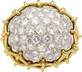 Estate Jewelry:Rings, Diamond, Gold Ring The bombé ring features fu...