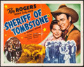 """Movie Posters:Western, Sheriff of Tombstone & Other Lot (Republic, 1941/R-1954). Fine+ Half Sheet (22"""" X 28"""") Style A & Photo (8"""" X 10""""). Western.... (Total: 2 Items)"""