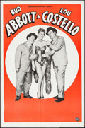 "Movie Posters:Comedy, Abbott and Costello (Universal International, 1950). Stock OneSheet (27"" X 41""). Comedy.. ..."