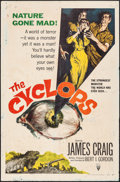 "Movie Posters:Horror, The Cyclops (RKO, 1957). One Sheet (26.75"" X 41""). Horror.. ..."