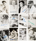 Baseball Collectibles:Others, Baseball Hall of Famers Signed Postcards Lot of 100+.. ...