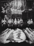 Photographs:Gelatin Silver, Jerry Uelsmann (American, b. 1934). Untitled (Hands andfigures), 1997. Gelatin silver. 19-1/4 x 14-3/8 inches (48.9 x3...