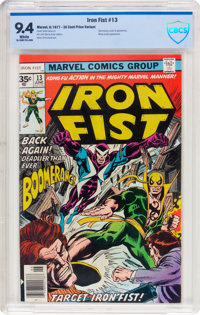 Iron Fist #13 35 Cent Price Variant (Marvel, 1977) CBCS NM 9.4 White pages