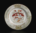 Asian:China Trade, A CHINESE EXPORT PORCELAIN PLATE. Circa 1760-1770. 9 inches (22.9cm) diameter. ...