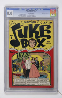 "Juke Box Comics #1 Davis Crippen (""D"" Copy) pedigree (Famous Funnies, 1948) CGC VF 8.0 Off-white pages"