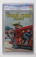 Golden Age (1938-1955):Superhero, World's Finest Comics #30 (DC, 1947) CGC FN/VF 7.0 Off-white to white pages....