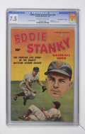 "Golden Age (1938-1955):Non-Fiction, Eddie Stanky #nn Davis Crippen (""D"" Copy) pedigree (Fawcett, 1951)CGC VF- 7.5 Off-white to white pages...."