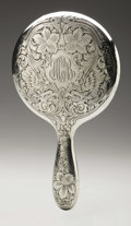 Other:American, AN AMERICAN STERLING SILVER HAND MIRROR. R. Blackington & Co.,North Attleboro, Massachusetts, 1906. Monogrammed HCB and...