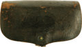 "Military & Patriotic:Indian Wars, Indian Wars Hagner No. 2 Cartridge Box, 7.25"" x 4.75"", canvas loops for 24 trapdoor rounds, brass finial, two belt straps, e..."