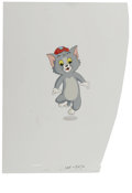 "Animation Art:Production Cel, ""Tom and Jerry Kids Show"" - Tom Animation Production Cel andClean-Up Drawing Original Art, Group of 3 (Hanna-Barbera, circa1... (Total: 3)"