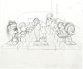 Animation Art:Production Drawing, The Simpsons - Homer and Bart Simpson, Captain McAllister, Mr.Burns, Martin Prince, Nelson Muntz, and Sherri Animation Drawin...(Total: 5)