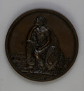 Expositions and Fairs: , 1860 Massachusetts Charitable Mechanic Association Medal in Bronze, XF45 Uncertified. 51mm, plain edge, Julian AM-34. Obvers...