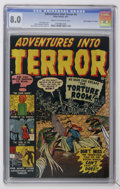 "Golden Age (1938-1955):Horror, Adventures Into Terror #4 Davis Crippen (""D"" Copy) pedigree (Atlas,1951) CGC VF 8.0 Cream to off-white pages...."