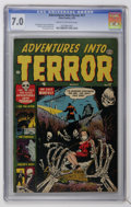 "Golden Age (1938-1955):Horror, Adventures Into Terror #17 Davis Crippen (""D"" Copy) pedigree(Atlas, 1953) CGC FN/VF 7.0 Cream to off-white pages...."
