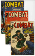 "Golden Age (1938-1955):War, Combat #4-7 Group - Davis Crippen (""D"" Copy) pedigree (Atlas, 1952).... (Total: 4)"