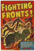 """Golden Age (1938-1955):War, Fighting Fronts! #3 and 4 Group - Davis Crippen (""""D"""" Copy) pedigree(Harvey, 1952).... (Total: 2)"""