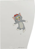 "Animation Art:Production Cel, ""Tom and Jerry Kids Show"" - Tom Animation Production Cel andClean-Up Drawing Original Art, Group of 2 (Hanna-Barbera, circa1... (Total: 2)"