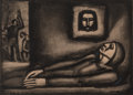 Fine Art - Work on Paper:Print, Georges Rouault (French, 1871-1958). De profundis, pl. 47 from Miserere, 1927. Heliogravure, with aquatint, burnish...