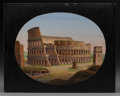 Decorative Arts, Continental:Other , An Italian Grand Tour Micromosaic Plaque Depicting the Colosseum,19th century. 7-1/4 inches high x 9 inches wide (18.4 x 22...
