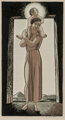 Rockwell Kent (American, 1882-1971) Wayside Madonna, circa 1927 Woodcut in colors on lightweight wove paper 10-1/4 x...