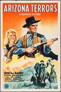 """Arizona Terrors & Other Lot (Republic, 1942). One Sheets (2) (27"""" X 41""""). Western. ... (Total: 2 Items)"""