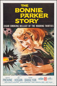 "The Bonnie Parker Story (American International, 1958). One Sheet (27"" X 41"") Reynold Brown Artwork. Crime..."