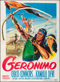 "Movie Posters:Western, Geronimo (United Artists, 1962). Folded, Very Fine. French Grande(47"" X 63"") Gilbert Allard Artwork. Western.. ..."