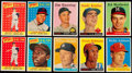 Baseball Cards:Lots, 1958 Topps Baseball Collection (127) Including Multiple Mantles!...