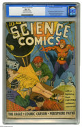 Golden Age (1938-1955):Science Fiction, Science Comics #1 (Fox, 1940) CGC FN- 5.5 Cream to off-white pages.Lou Fine pulled out the stops with this disturbing bonda...