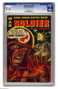 Soldier Comics #8 Crowley Copy pedigree (Fawcett, 1953) CGC NM 9.4 Off-white to white pages. Used in the book Parade of...