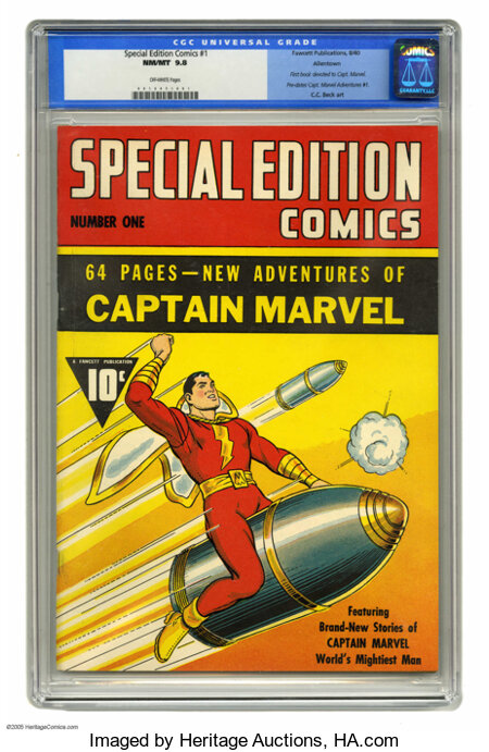 Special Edition Comics #1 Allentown pedigree (Fawcett, 1940) CGC NM/MT 9.8 Off-white pages. We can hardly conceive of a more...