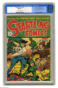 Golden Age (1938-1955):Superhero, Startling Comics #34 Mile High pedigree (Better Publications, 1945) CGC NM 9.4 Off-white to white pages. Here's an issue we ...