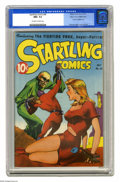 Golden Age (1938-1955):Science Fiction, Startling Comics #46 Mile High pedigree (Better Publications, 1947)CGC NM+ 9.6 Off-white to white pages. Overstreet calls t...