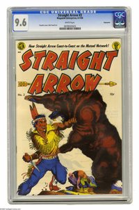 Straight Arrow #3 Vancouver pedigree (Magazine Enterprises, 1950) CGC NM+ 9.6 White pages. This Frank Frazetta cover is...