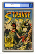 Golden Age (1938-1955):Science Fiction, Strange Worlds #3 (Avon, 1951) CGC VF 8.0 Cream to off-white pages.This sci-fi rarity includes art by a host of luminaries:...